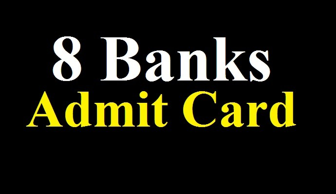 Combine 8 Bank Admit Card Download