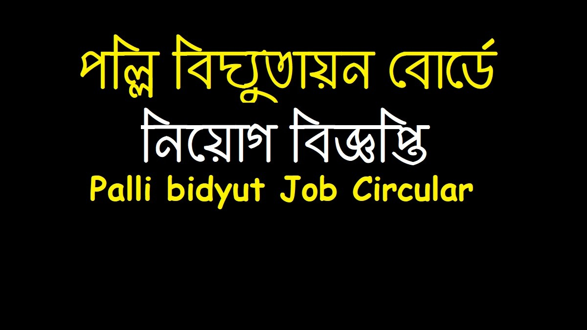 Palli bidyut online Job application