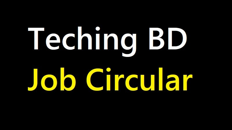 Teaching BD Job Circular