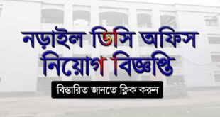 Narail DC Office Job Circular