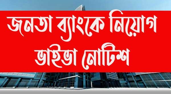 Janata Bank Assistant Executive Officer Teller Viva and Documents Submission